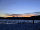 Tahoe - Sunset over Lake Tahoe from beach at Franciscan Lodge