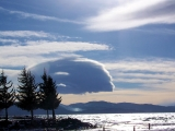 Tahoe - LOTS of wind aloft and all sorts of amazing clouds scudding through