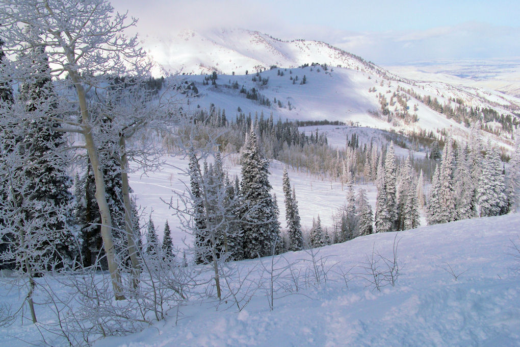 Powder Mountain - The day started off pretty sunny