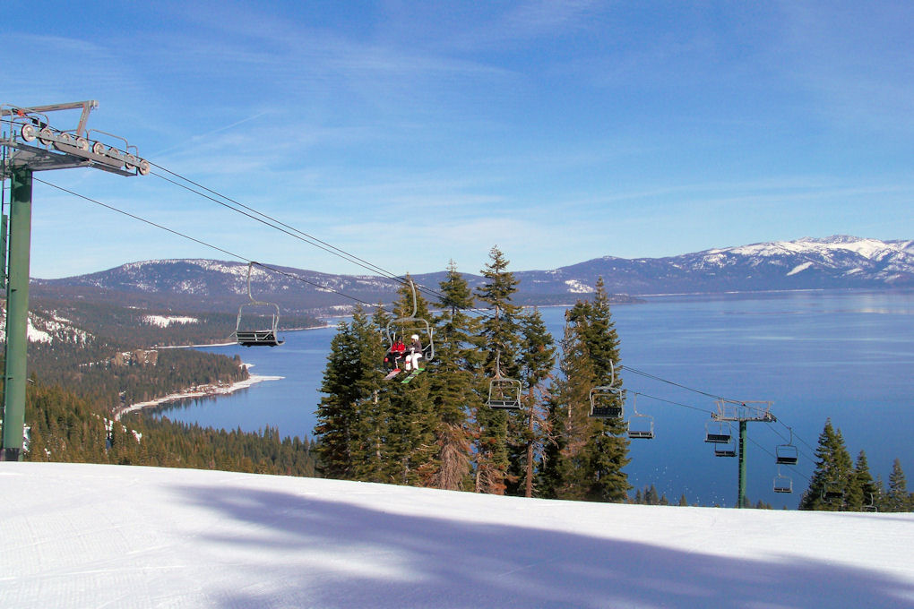 Homewood - Lake Tahoe from top of Quail Chair