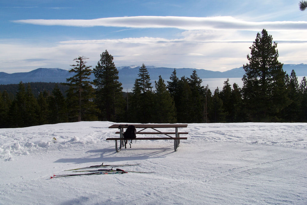 Tahoe XC - Lakeview lookout on Silver Trail