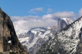 Yosemite - Half Dome and Cloud Mountain (under cloud)